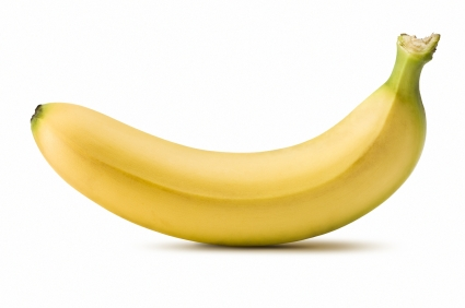 the banana is yellow