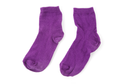 these are purple socks