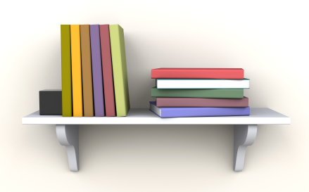 Image result for books on shelf